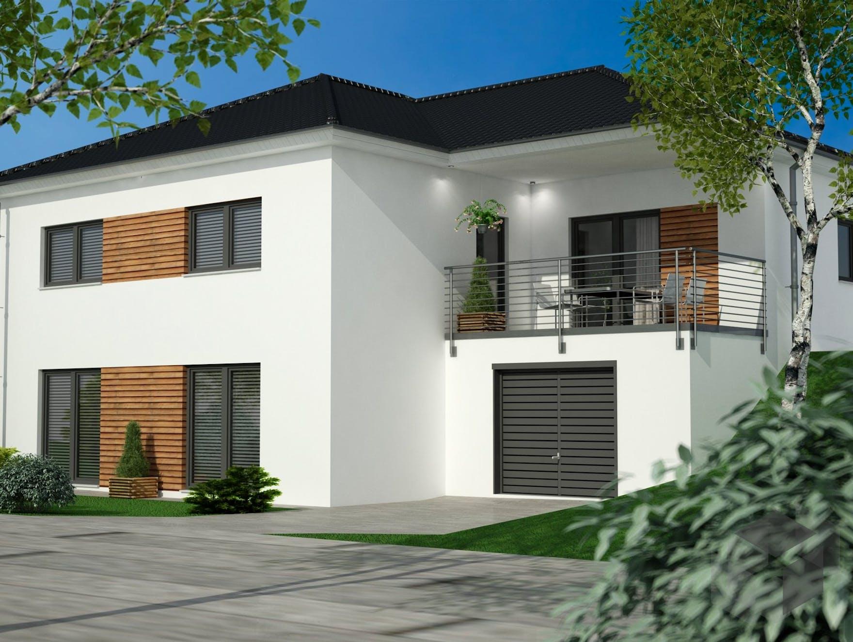 bungalow vollunterkellert mit garage siegerland massivhaus. Black Bedroom Furniture Sets. Home Design Ideas
