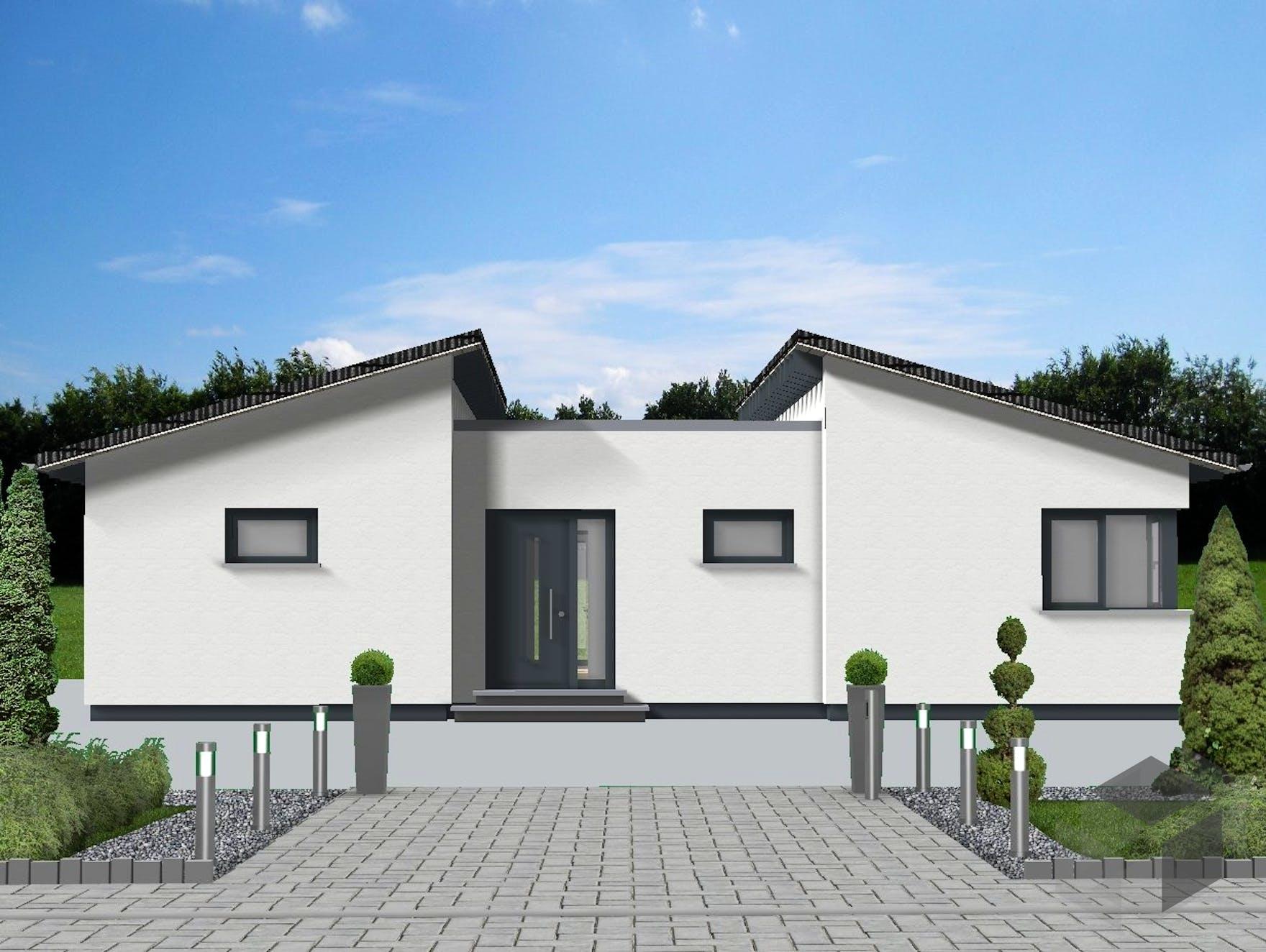 wohnen auf einer ebene von meisterst ck haus pultdach. Black Bedroom Furniture Sets. Home Design Ideas